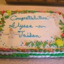 It featured a special cake congratulating Alyssa & Jaidan